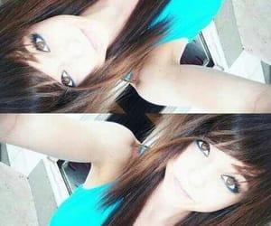 brown hair, long hair, and emo image