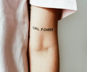 girl, girl power, and tattoo image