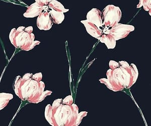 black, wallpaper, and flowers image