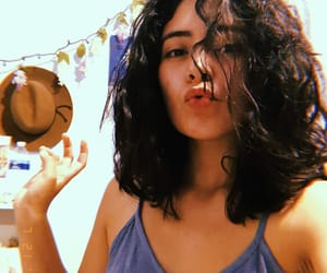 big hair, curly hair, and dark hair image