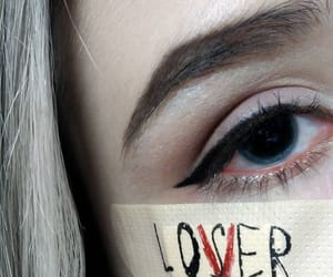 eye, make uo, and make up image