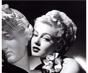 glamour, oldhollywood, and blackandwhitephotography image