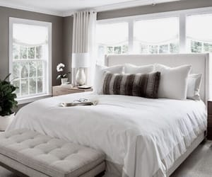 bedroom, white, and cute image