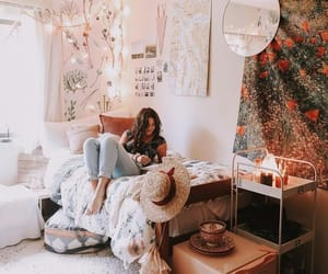 bed, bedrooms, and boho image