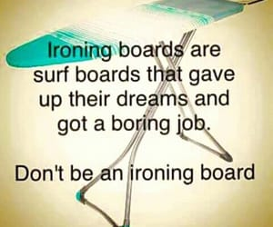 ironing, surf board, and surfing image