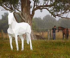 horse, statue, and origami image