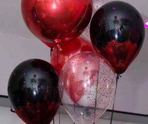 baloons, black, and red image