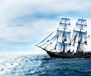 art, sail, and ship image