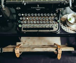 typewriter, autumn, and coffee mug image