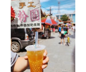 bubbles, drink, and taiwanesefood image