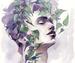 aesthetic, ivy, and lilac image
