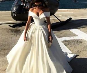 dress, white, and wedding image