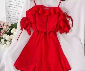 dress, party, and red image