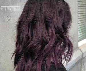 hair, purple, and cabello image