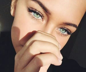 eyes, girl, and beauty image