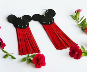 disneyland, mickey mouse, and tassel earrings image