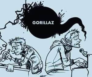 gorillaz, albarn, and hewllet image