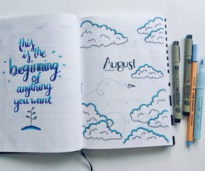 August, calendar, and bujo image