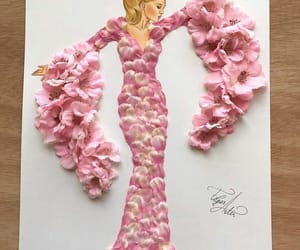 art, pink, and fashion image