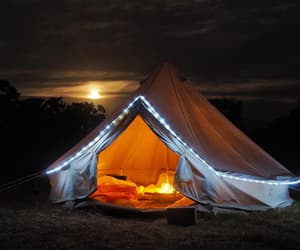 bell tent, camping equipments, and glamping uk image