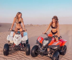 bff, girls, and sand image