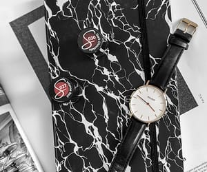 marble, watch, and nail polishes image