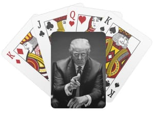 playing cards and donald trump image