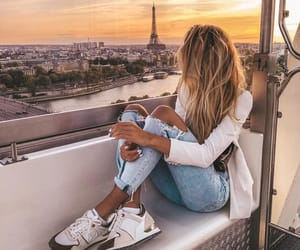 blonde, eiffel tower, and fashion image