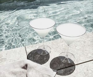 cocktail, summer, and coconut image