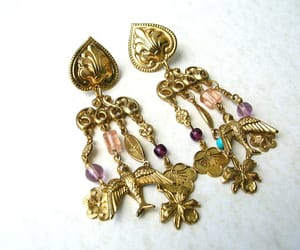 80s, costume jewelry, and etsy image