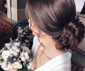 beauty, cheveux, and flowers image