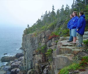 cliffs, Maine, and rocks image