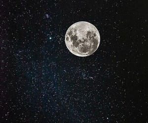 moon, sky, and stars image