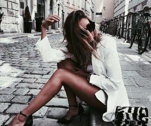 blazer, girl, and fashion image