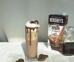 aesthetic, chocolate, and chocolate milk image