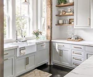 design, white, and kitchen image