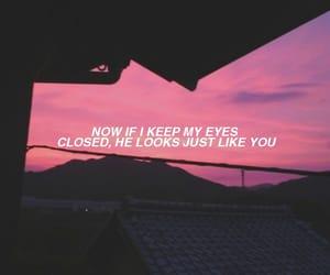 eyes closed, Lyrics, and mine image