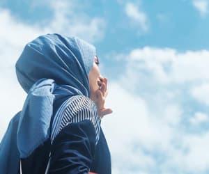 blue, girly, and hijab image