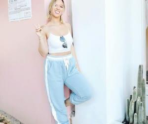 blue pants, alisha marie, and fashion image