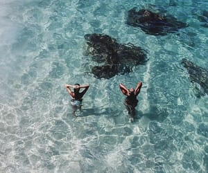 beach, water, and best friends image