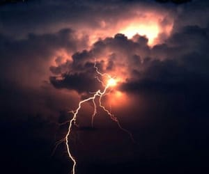bolt, clouds, and night image