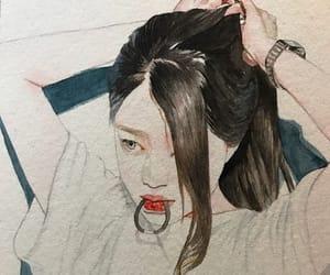 art, drawing, and grey image