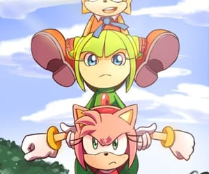 cosmo, Sonic the hedgehog, and amy rose image