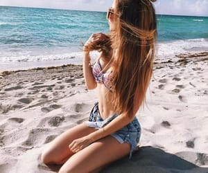 beach, hairstyle, and holiday image