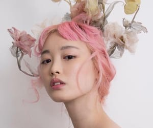 models, pink, and lỳ image