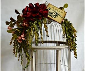 birdcage, wedding, and birdcage card holder image