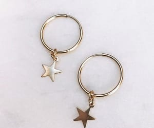 stars, earrings, and gold image