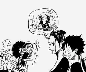 one piece, manga, and luffy image
