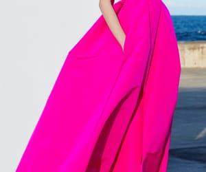long dress, rose, and model image