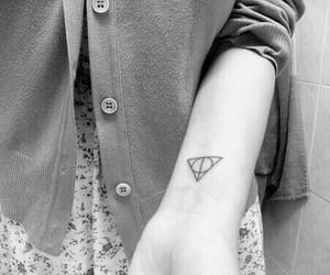 girl, harry potter, and tattoo image